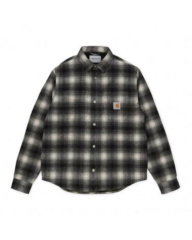 Carhartt WIP Giacca Lashley Shirt Jac - Black/White
