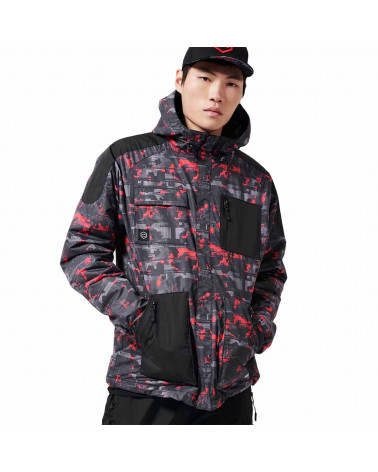 Dolly Noire Jacket Full Zip Camo Glitch