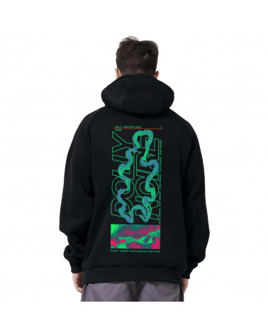 Dolly Noire Felpa Acid Leak Hoodie - Black