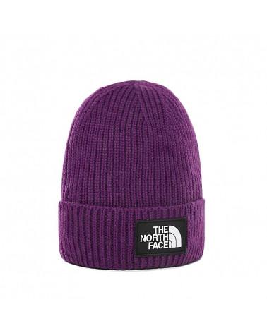 The North Face Beanie Logo Box Cuff - Hero Purple