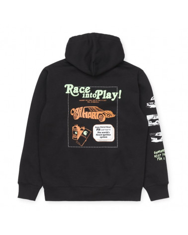 Carhartt WIP Felpa Hooded Race Play Sweatshirt - Black