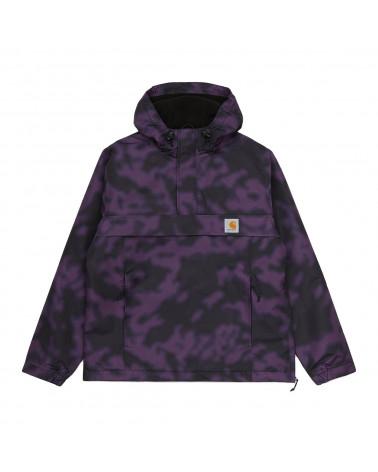 Carhartt WIP Giacca Nimbus Pullover - Camo Blur/Purple