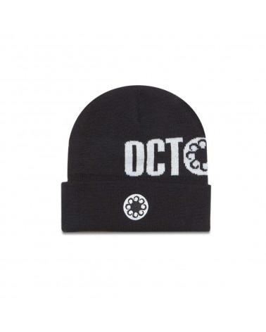 Octopus Logo Fold Beanie - Black