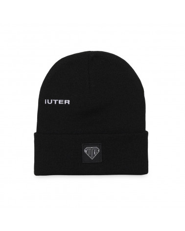 Iuter Logo Fold Beanie - Black