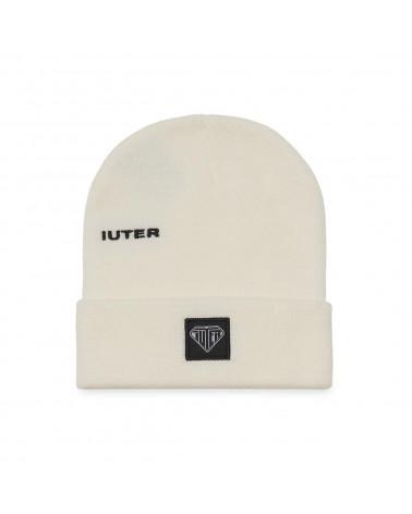 Iuter Logo Fold Beanie - White