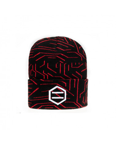 Dolly Noire Cappello Red Circuit Beanie