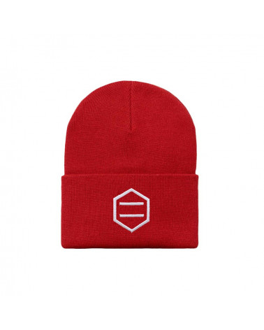 Dolly Noire Red & White Beanie