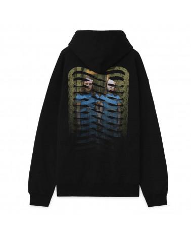 Propaganda Sweatshirt Twins Ribs Icon Hood - Black/Red