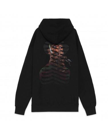 Propaganda Sweatshirt Nightmare Ribs Icon Hood - Black/Red