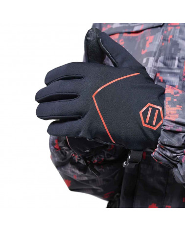 Dolly Noire Guanti Touch Gloves - Black/Red