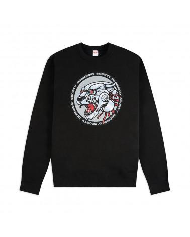 Doomsday Sweatshirt Iron Panther Crewneck - Black