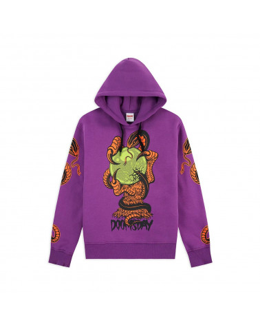 Doomsday Felpa Omen Hoodie - Purple