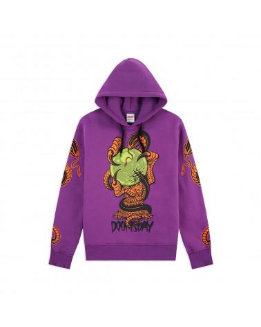 Doomsday Sweatshirt Omen Hoodie - Purple