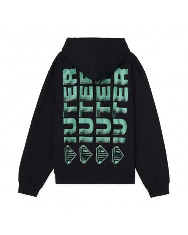 Iuter - Sweatshirt Iuter Fast Logo Zip Hoodie - Black