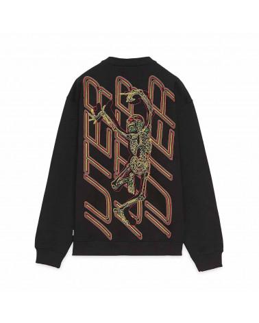 Iuter - Sweatshirt Skeleton Crewneck - Black