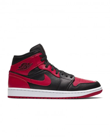 Nike Air Jordan 1 Mid Banned - Black/Gym Red-White
