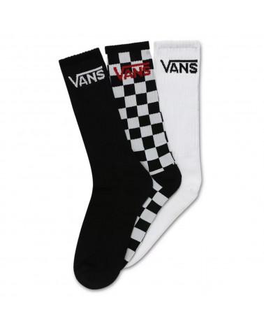 Vans Calze Classic Crew - Black/Checkerboard