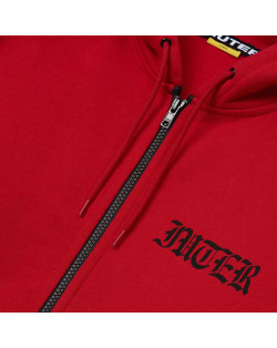 Iuter - Sweatshirt Noone Zip Hoodie - Red