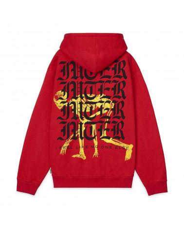 Iuter - Felpa Noone Zip Hoodie - Red