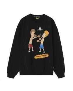 Iuter - Felpa B&B Knockout Crewneck - Black