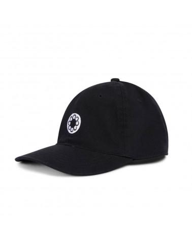 Octopus Snapback Logo Dad Hat - Black