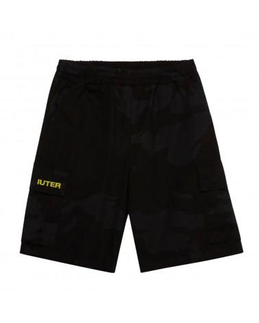 Iuter Pantaloncini Jogger Camo Short - Black
