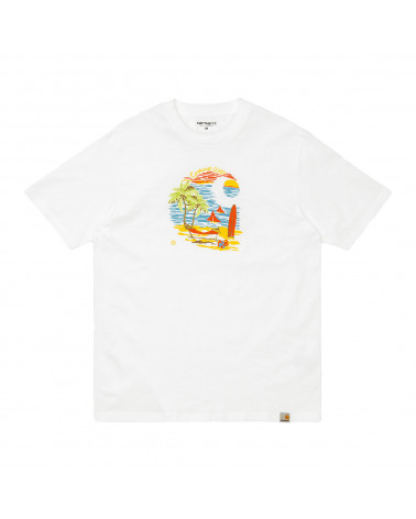 Carhartt Wip Beach C T-Shirt White