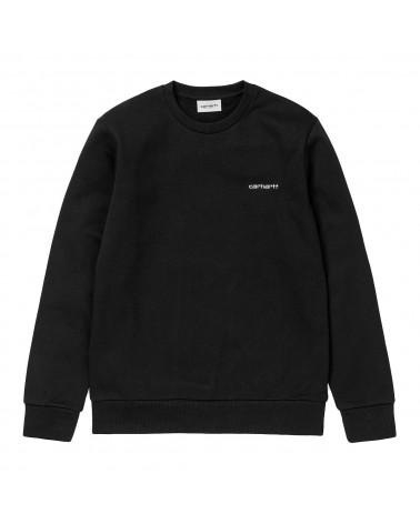 Carhartt Wip Felpa Script Embroidery Sweatshirt Black