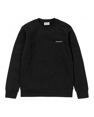 Carhartt Wip Script Embroidery Sweatshirt Black