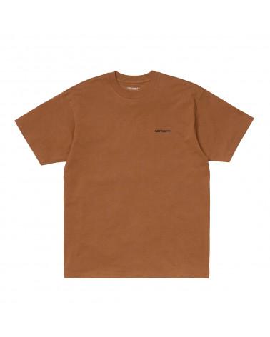 Carhartt Wip Script Embroidery T-Shirt Rum/Black
