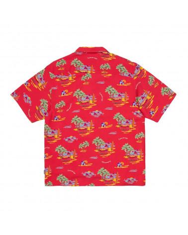 Carhartt Wip Camicia S/S Beach Shirt - Beach Print/Etna Red