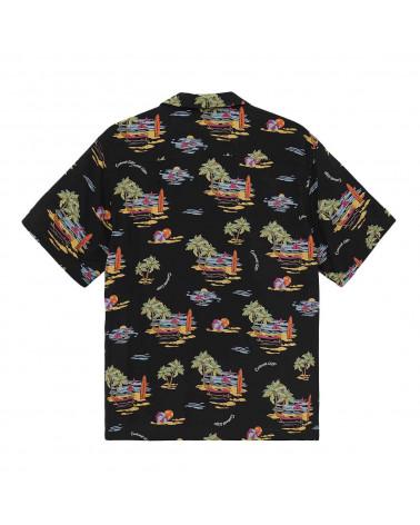 Carhartt Wip Camicia S/S Beach Shirt - Beach Print/Black