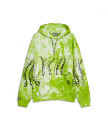 Octopus Sweatshirt Octopus Freak Hoodie Green