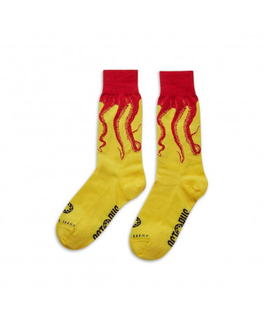 Octopus Calze Socks Original Red/Yellow