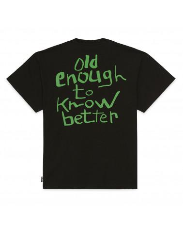 Iuter T-Shirt Know Better Tee Black/Green