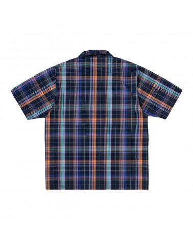 Carhartt Wip Camicia S/S Vilay Shirt - Vilay Check/Dark Navy