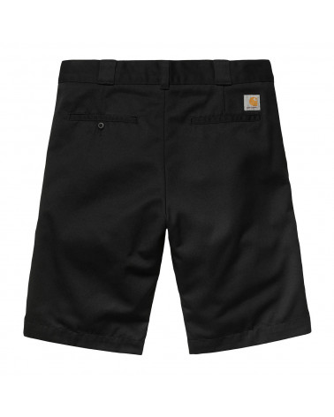 Carhartt Wip Master Short - Black Rinsed