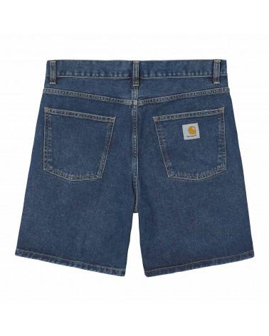 Carhartt Pantaloncini Newel Short - Blue Stone Washed