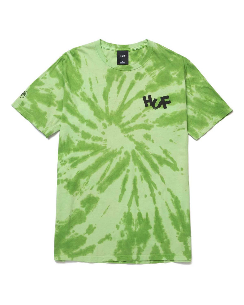 HUF Haze Brush Tie Dye T-Shirt Lime