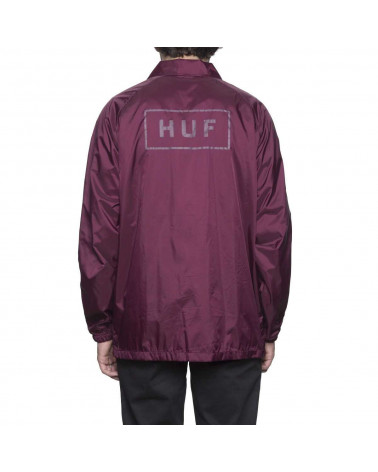 HUF Giacca Bar Logo Coach' s Jacket Burgundy