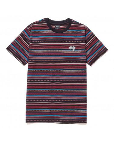 HUF Topanga Short Sleeve Knit Top T-Shirt Navy