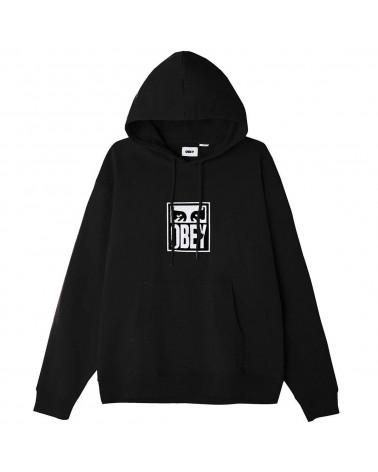 Obey Felpa Subvert Eyes Hood Speciality Fleece Black
