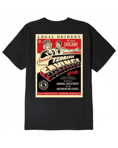 Obey America's Savings Classic T-Shirt Black