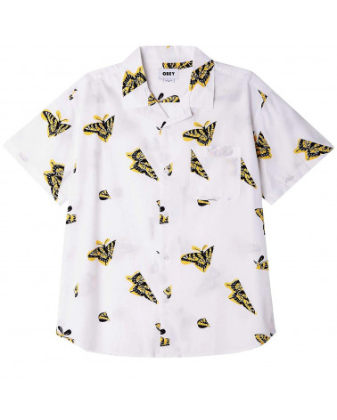 Obey Camicia Butterfly Shirt White