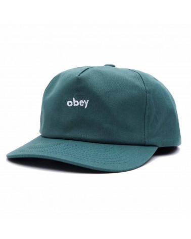 Obey Lowercase Snapback Sage