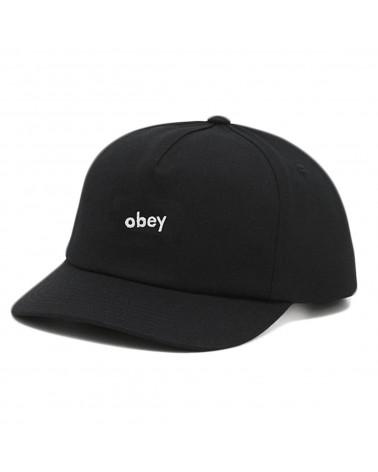 Obey Lowercase Snapback Black