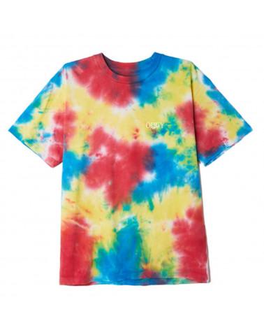 Obey Earth Organic Overbleed Tie Dye T-Shirt Pagoda