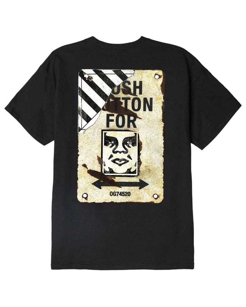 Obey Crosswalk Sign Classic T-Shirt Black