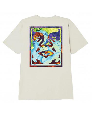 Obey Statue Icon Classic T-Shirt Cream
