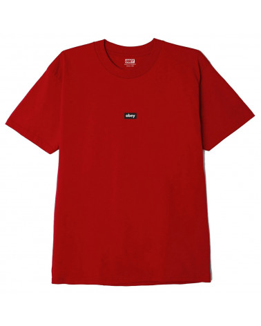 Obey Bar Classic T-Shirt Red